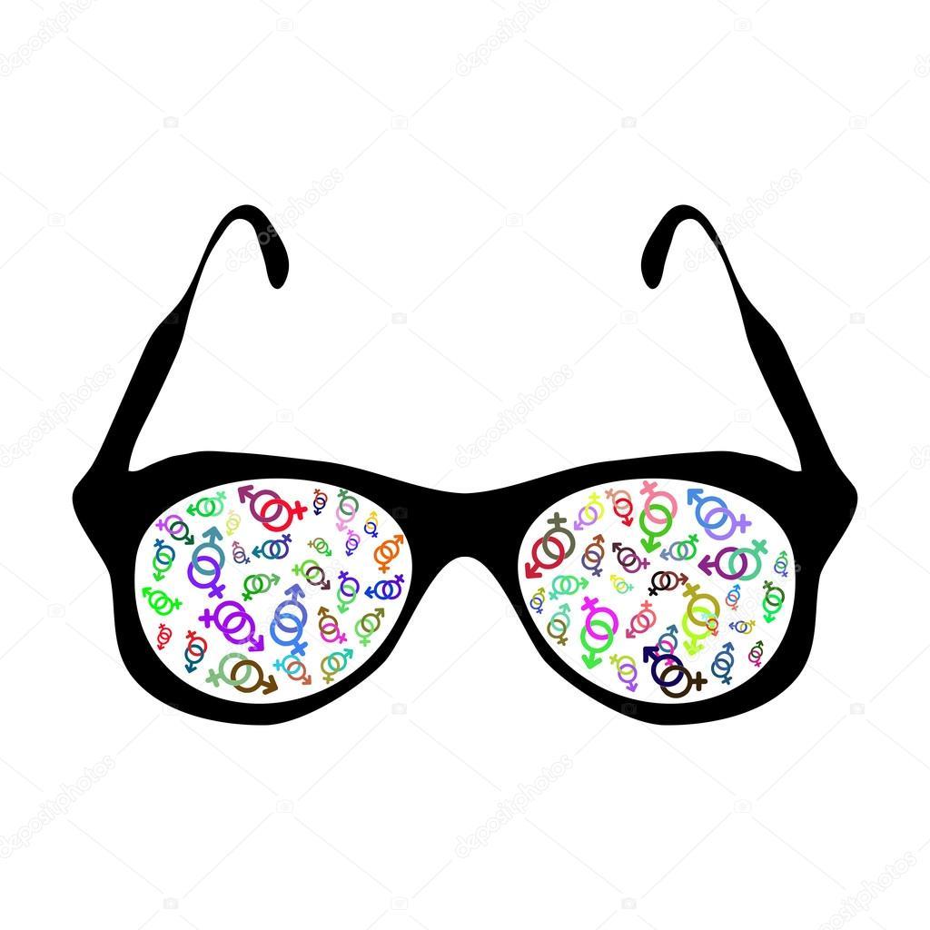 Immagine di vettore occhiali da vista con il simbolo