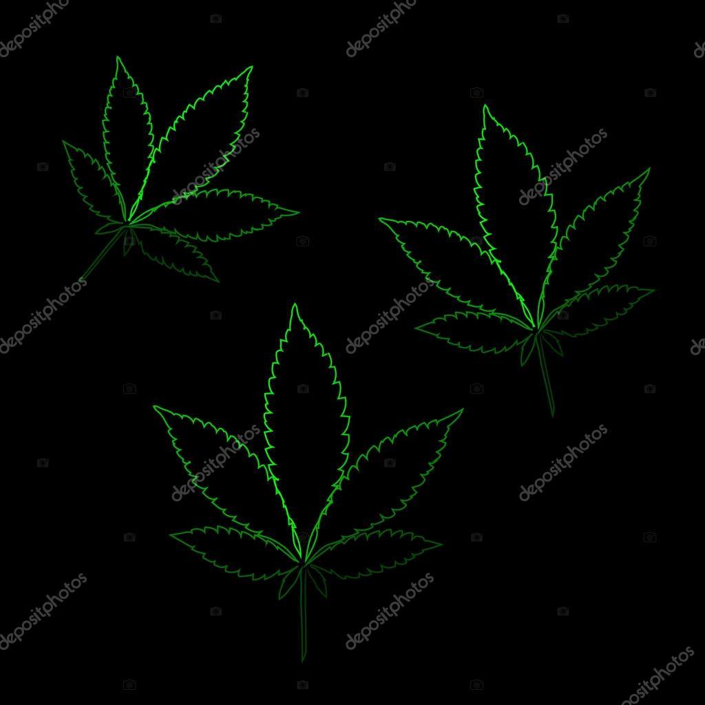 Neon Marijuana Leaves Stock Vector Natalisven 85904618