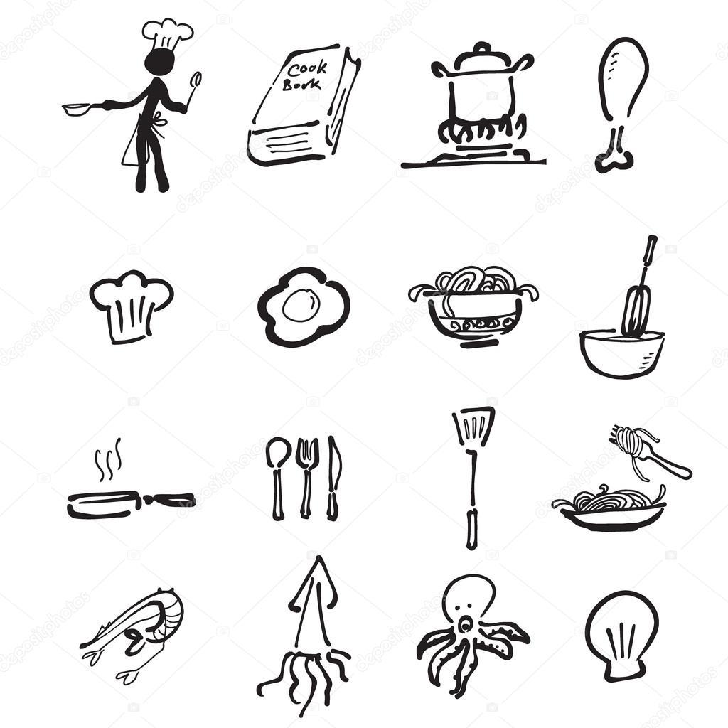 Caricatura de chef y cocina dibujo vector de stock for La cocina de dibujos pdf
