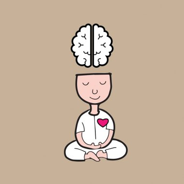 Man meditation brain