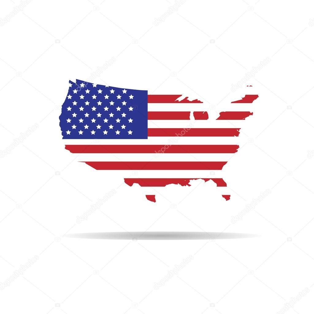 American Map Flag Stock Vector C Tawesit Gmail Com 74637721
