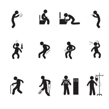 People sick icons