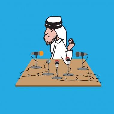 Press interview Arab man
