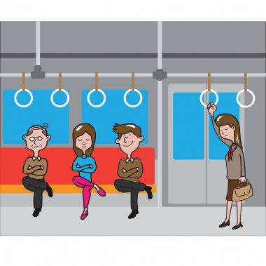 Transportation people in subway