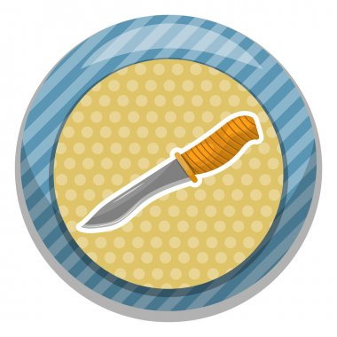 Knife for hunting cartoon icon