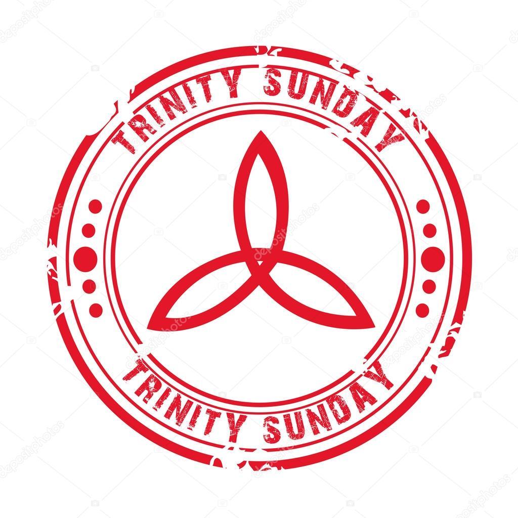 Trinity Sunday holy spirit — Stock Vector © SSDN #110301460