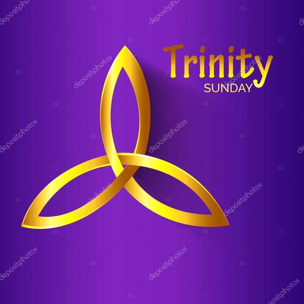 Trinity Sunday Holy Spirit — Stock Vector © SSDN #110328508