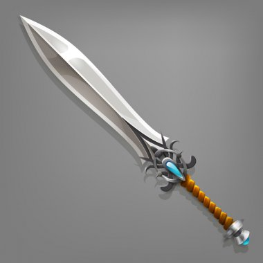Cartoon game sword.