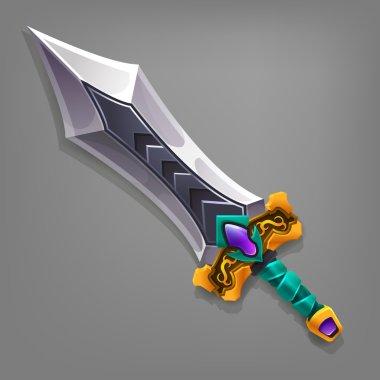 Cartoon game sword.