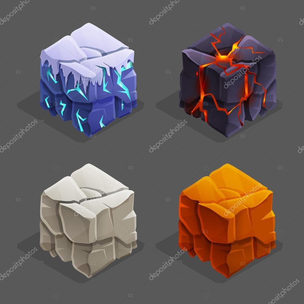 game brick cubes set.