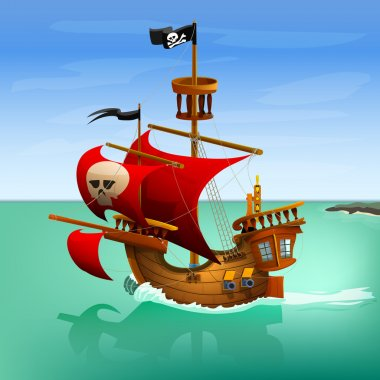Pirate  cartoon ship