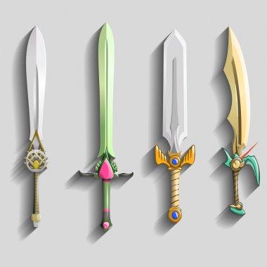 Different swords set