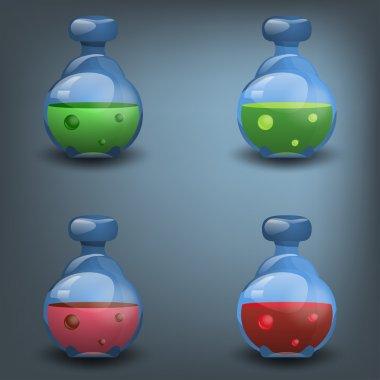 Bottles of potion set