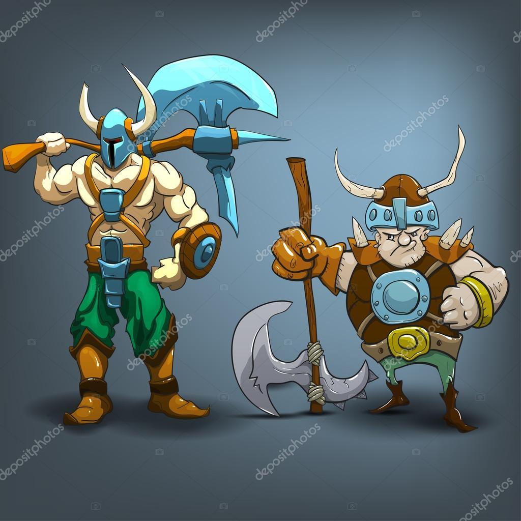 personagens de bárbaros rei vetor de stock mrdeymos 65789601