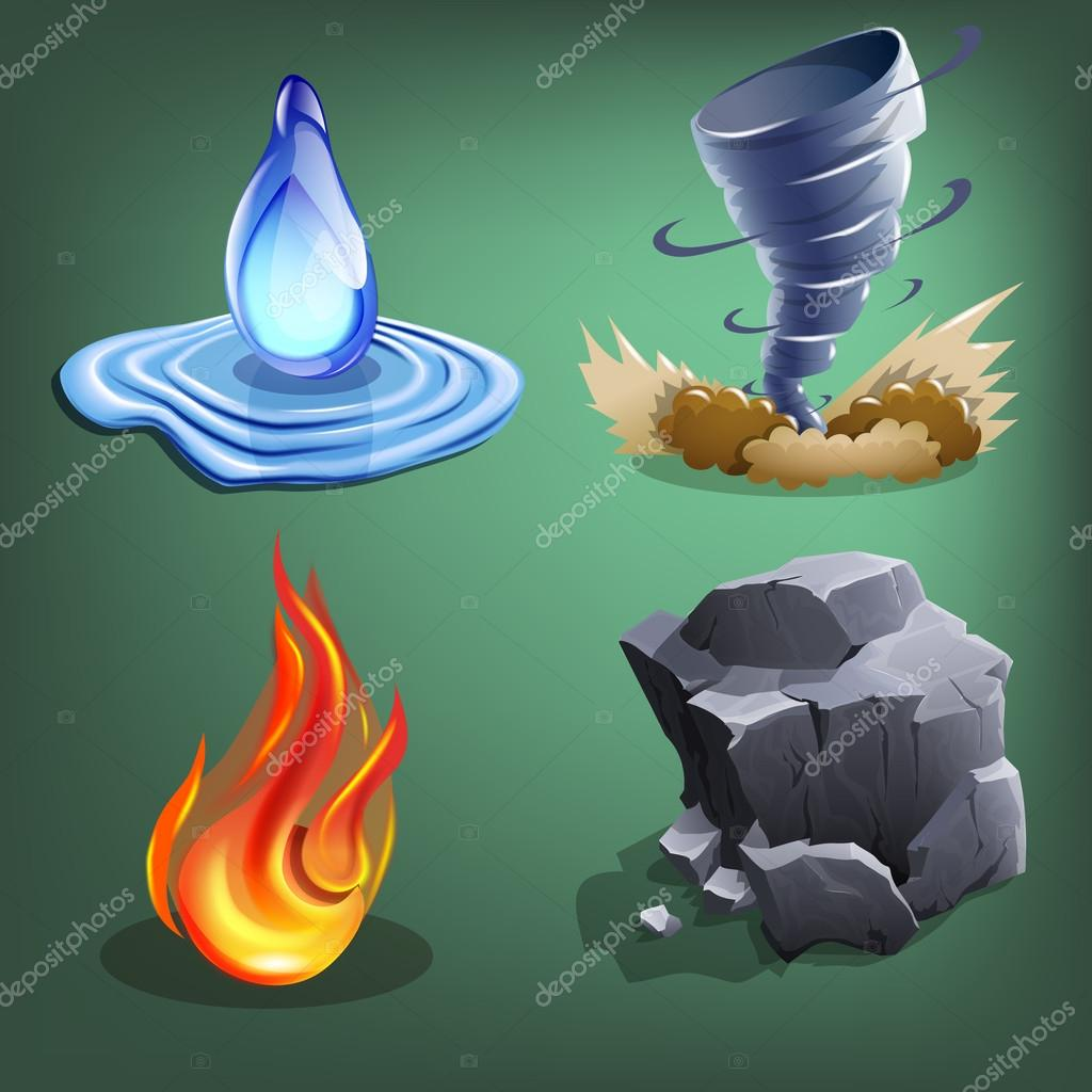 Four elements for games.