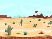 Fotografia Paesaggio del deserto senza giunte del fumetto