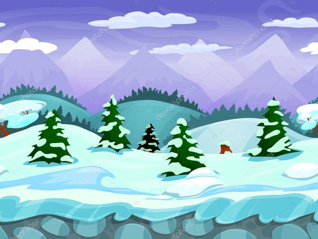 paisaje de invierno dibujos animados transparente vector snow vector overlay snow vector png