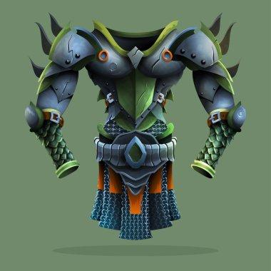 Steel armor. Vector illustration. stock vector