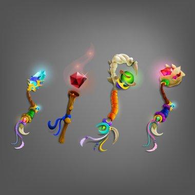 Set of magic wand.