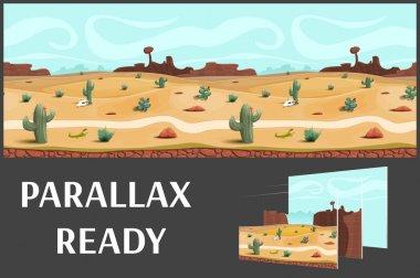 Illustration of a desert landscape