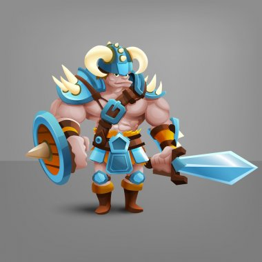 cartoon barbarian warrior