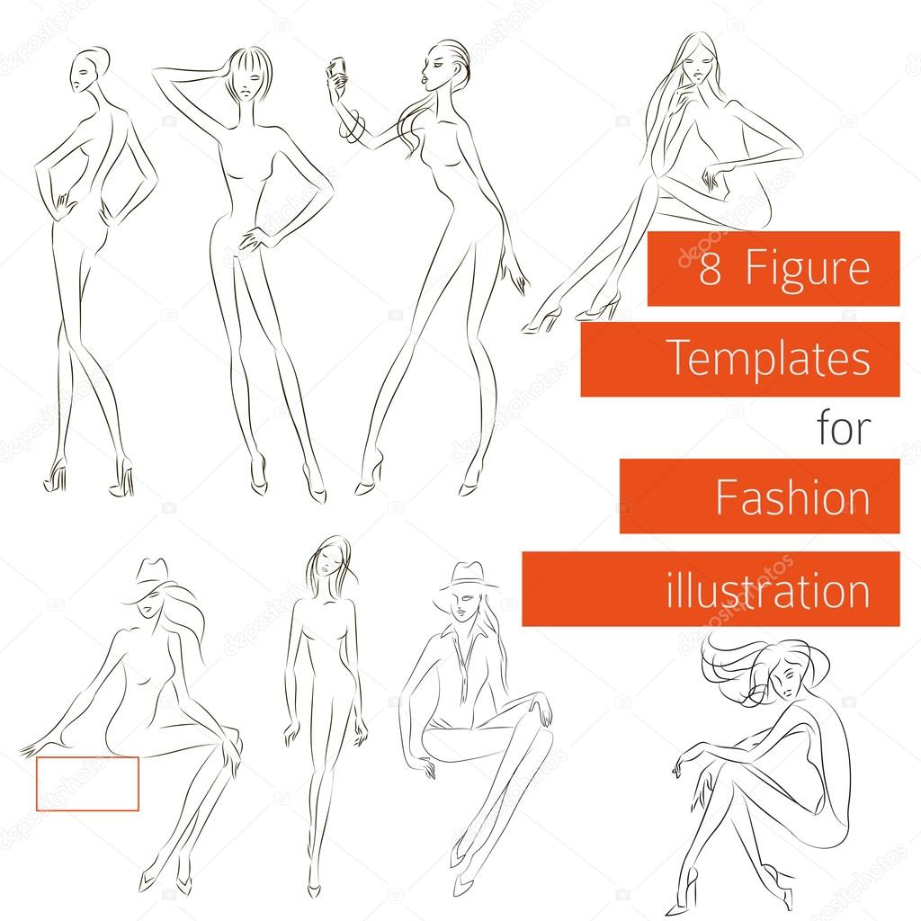 Figure templates for fashion illustration stock vector figure templates for fashion illustration stock vector 67102365 pronofoot35fo Choice Image