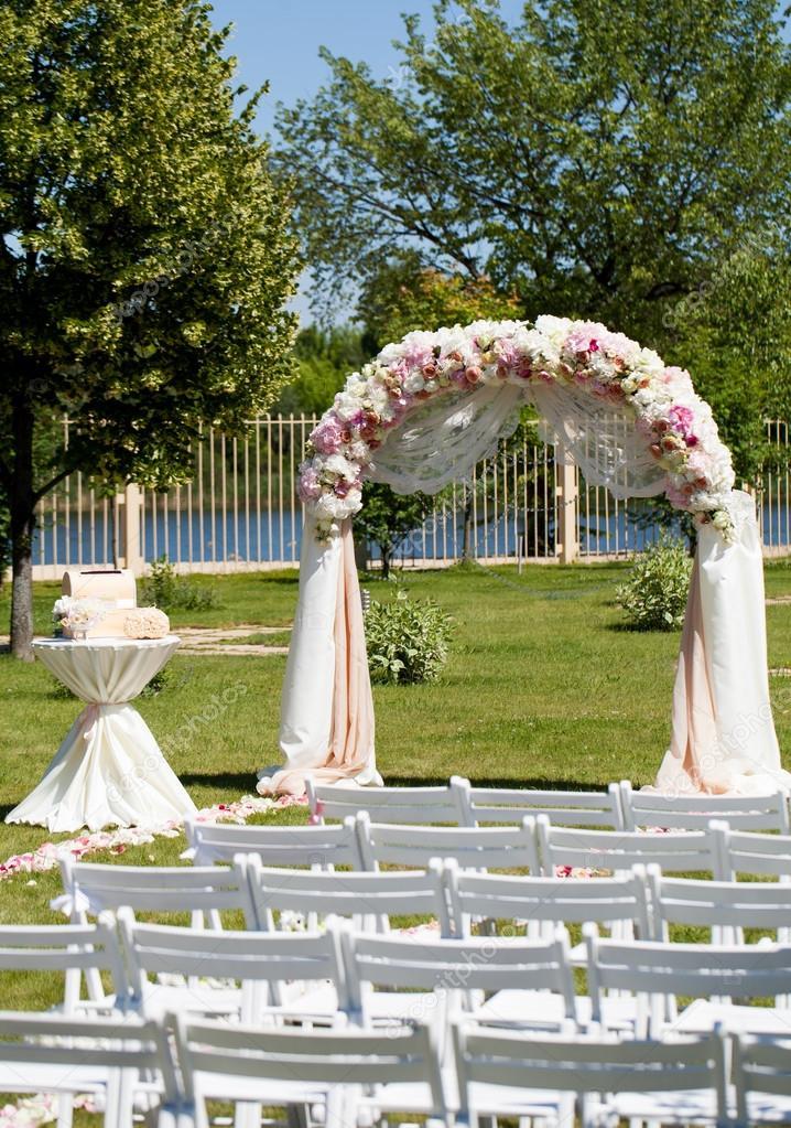 Hochzeit Zeremonie Dekoration Stockfoto C Davit85 75238717