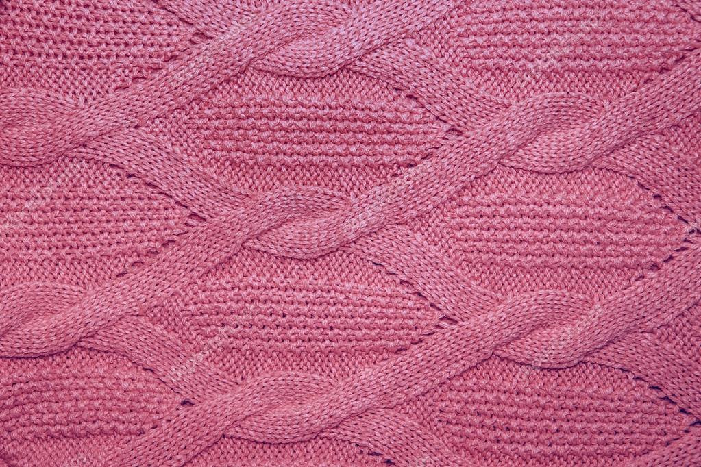 3ae6992503146 Pink wool sweater texture close up. Knitted jersey background with a relief  pattern — Photo by ...