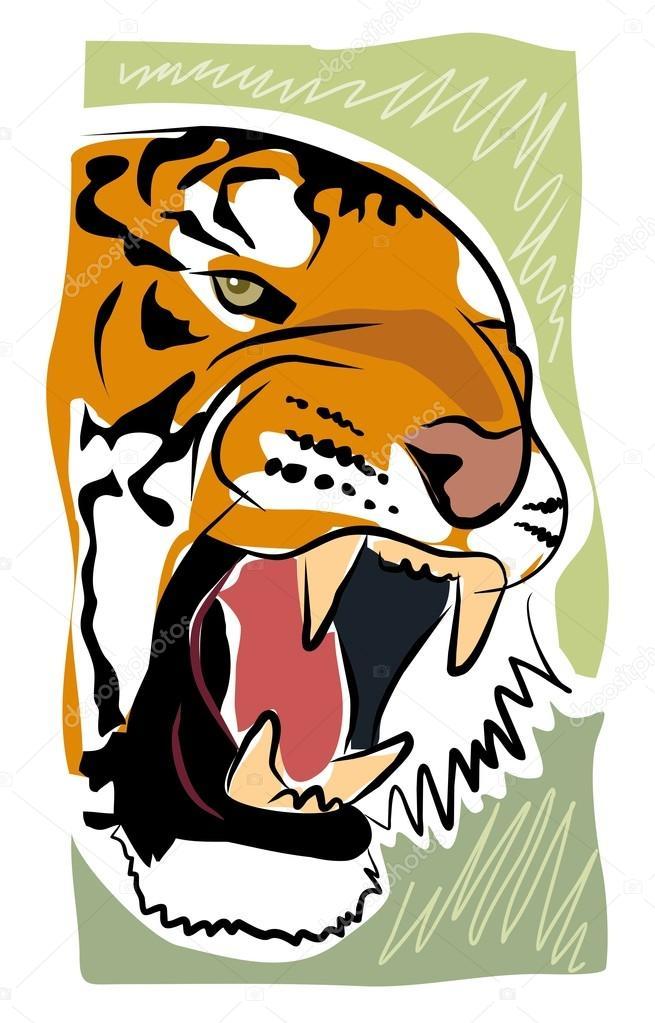 Sketchy tiger