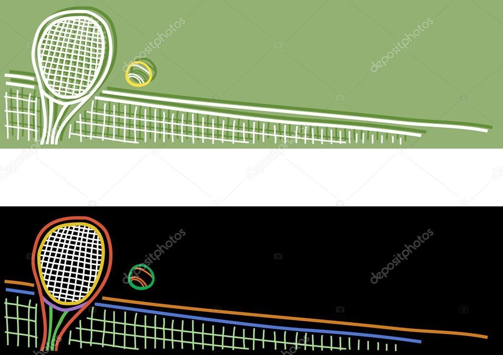 Tennis Banner Stock Vector C Wickerwood 66537027
