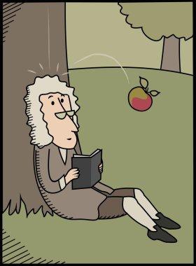 Isaac Newton and apple