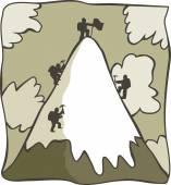 Fotografia Alpinisti del fumetto