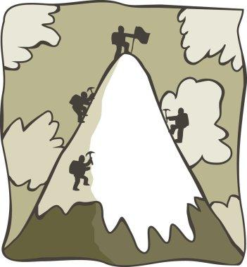 Cartoon mountaineers