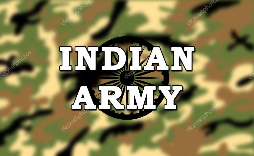 Indian Army Military Camouflage Pattern Background