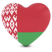 Love Belarus Concept Image - Heart textured with Belarusian Flag