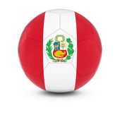Peru Football - Peruvian Flag on Soccer Ball