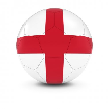 England Football - English Flag on Soccer Ball