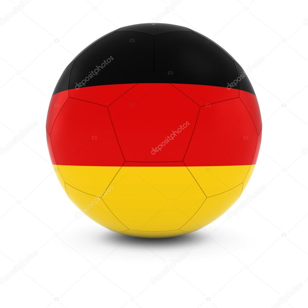allemagne football drapeau allemand sur ballon de foot photographie fredex 110325302. Black Bedroom Furniture Sets. Home Design Ideas