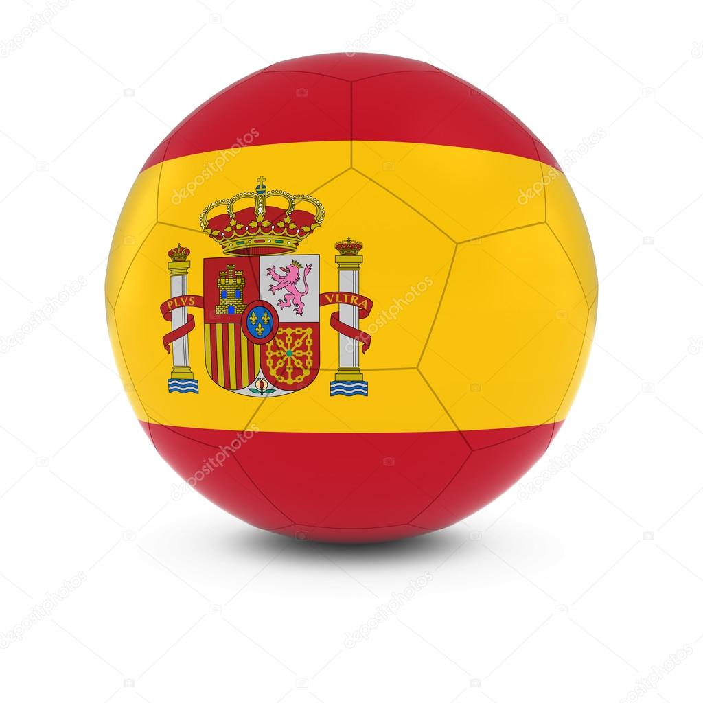 espagne football drapeau espagnol sur ballon de foot photographie fredex 110328180. Black Bedroom Furniture Sets. Home Design Ideas