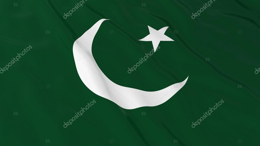 Pakistan Bayrağı Hd Arka Plan Pakistan Bayrağı 3d çizim Stok