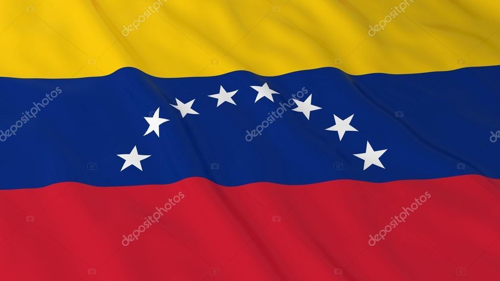 Venezüella Bayrağı Hd Arka Plan Bayrak Venezuela 3d çizim Stok