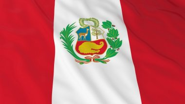 Peruvian Flag HD Background - Flag of Peru 3D Illustration