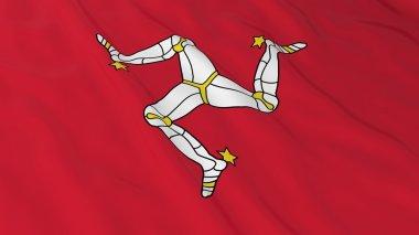 Manx Flag HD Background - Flag of the Isle of Man 3D Illustration