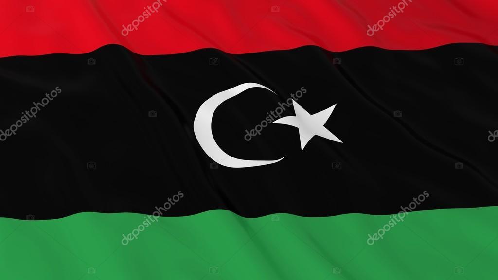 Libya Bayrağı Hd Arka Plan Bayrak Libya 3d çizim Stok Foto
