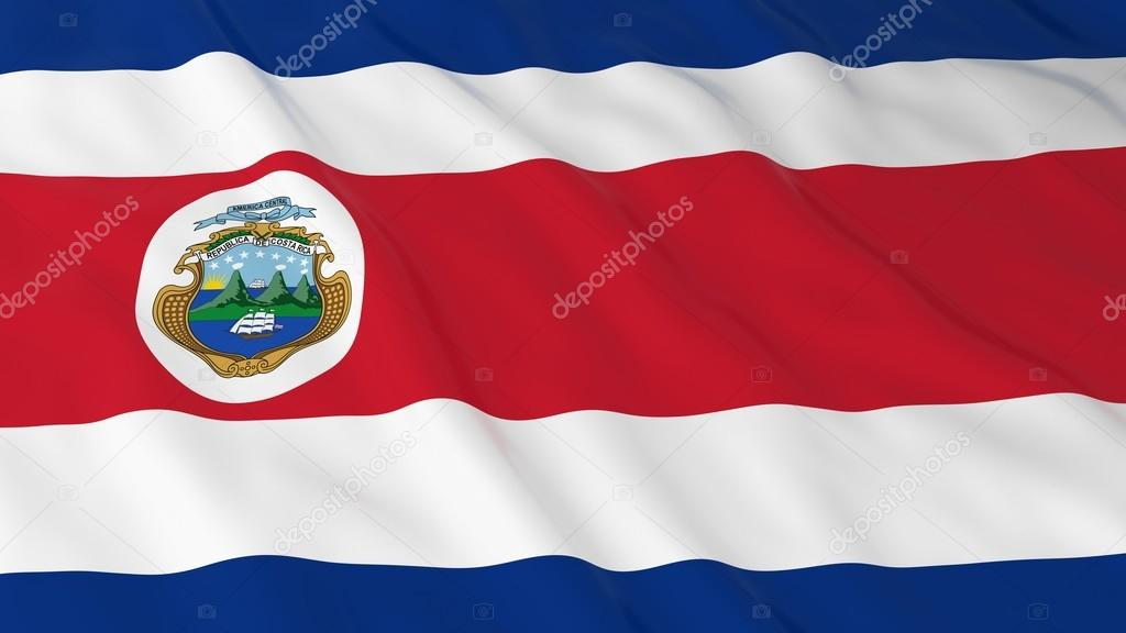 costa rican flag hd background flag of costa rica 3d illustration