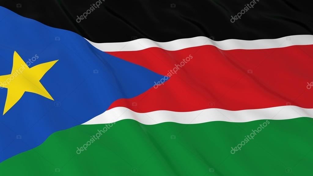 Güney Sudan Bayrağı Hd Arka Plan Güney Sudan Bayrağı 3d çizim