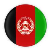 Fotografie Afghan Flag Button - Flag of Afghanistan Badge 3D Illustration