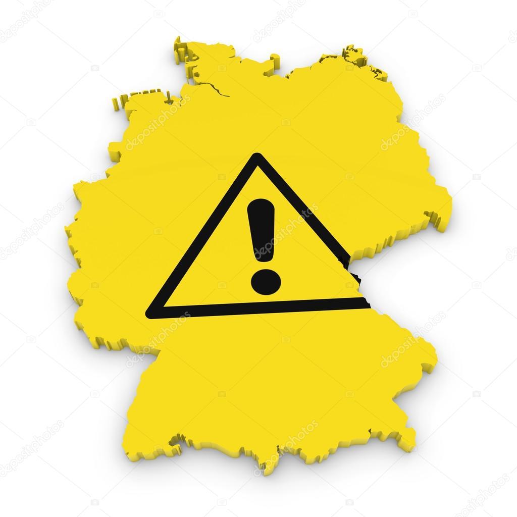 German hazard concept image 3d outline of germany textured with german hazard concept image 3d outline of germany textured with exclamation mark hazard symbol buycottarizona