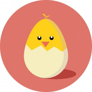 Chick hatched flat icon