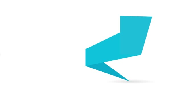 nebo prázdný prázdný papír banner pro textové zprávy 4 k animaci prvek pozadí